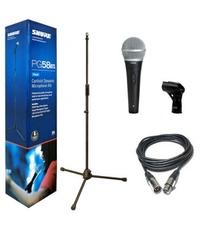 SHURE PGA58-BTS комплект микрофон стойка кабел и държач