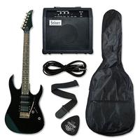 Пакает електрическа китара MAXTONE BK - PACK + усилвател и аксесоари