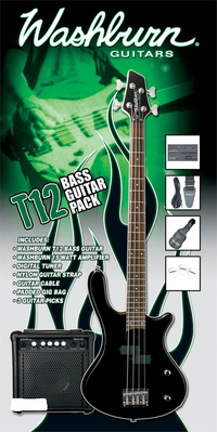 Washburn T12B bass guitar Pack