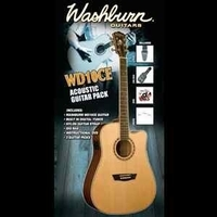 Washburn WD10CE acoustic guitar PACK