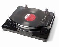 ION Audio Classic LP Record Player - Vinyl turntable with USB digital conversion Audio - Piano Black