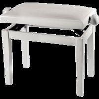 GEWA PIANO BENCH WHITE HIGHGLOSS WHITE COVER