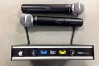 Два безжични микрофона с приемник SELNER IU-2075