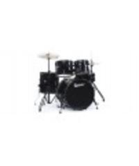 Акустични барабани комплект Premier Olympic STAGE 20 BK с черен хардуер, чинели, столче и палки