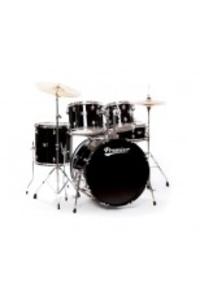 Акустични Барабани Premier ROCK 22 BLACK комплект с хардуер, столче, чинели и палки