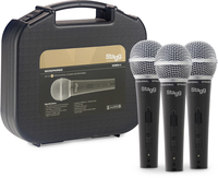 STAGG SDM50-3 Комплект от 3 микрофона с кабели и куфарче