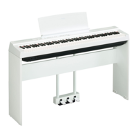 YAMAHA STAGE PIANOS P-125 White_bundle