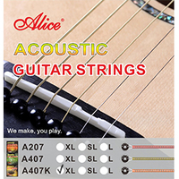 Alice Acoustic Guitar Strings Фосфор Бронз 011