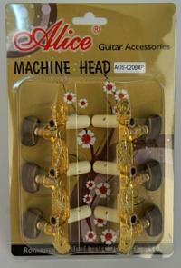 Ключове за класическа китара позлатени к-т. AOS-020B4P Classical Machine Head Set, Alice