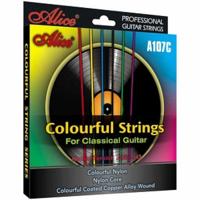 Струни  за класическа китара цветни. A107C Classical Guitar Strings, Normal, Alice