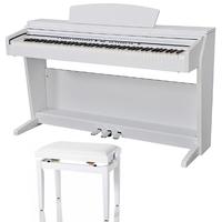 Дигитално пиано Artesia DP10e, Столче с механизъм, Бял цвят